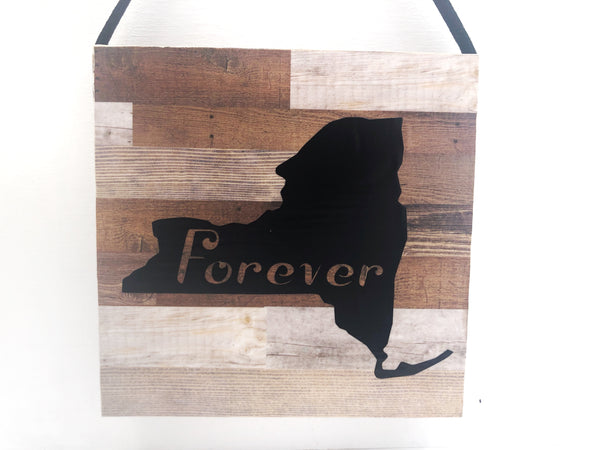 Forever Custom State Wood Plank Sign