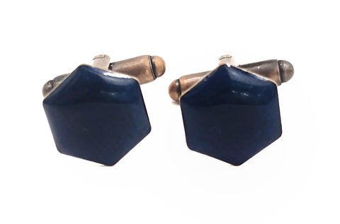 Royal Blue Geometric Cufflinks
