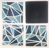 Geometric Triangle Coasters