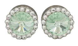 Chrysolite Light Green Swarovski Crystal Plugs - Defiant Jewelry