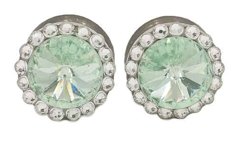 Chrysolite Light Green Swarovski Crystal Plugs