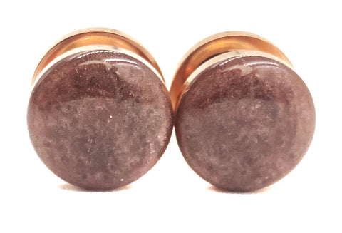 Deep Rose Shimmer Plugs - Defiant Jewelry