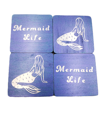 Mermaid Life Holographic Coasters