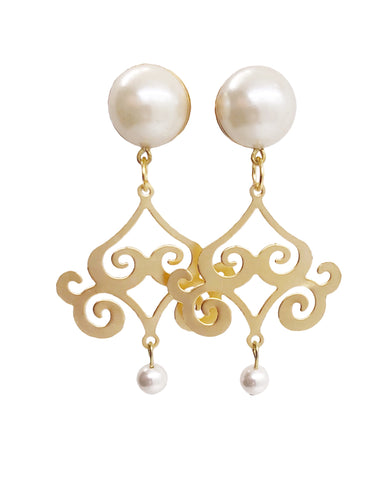 Pearl Intrciate Drop Dangle Plugs - Defiant Jewelry