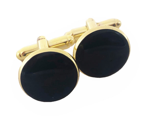 Black Gloss Cufflinks - Defiant Jewelry