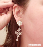Swarovski Intricate Crystal Dangle Plugs - Defiant Jewelry