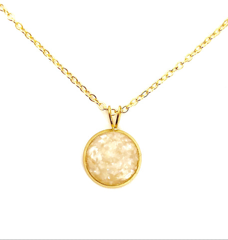 Pearl Crushed Shell Round Necklace