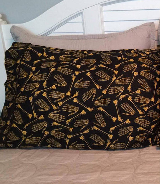 Black and Gold Bone Pillowcases - Defiant Jewelry