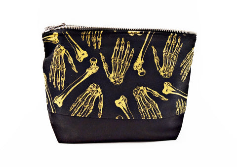 Skeleton Bones Make Up Bag - Defiant Jewelry
