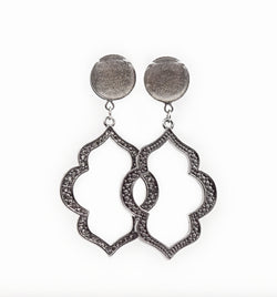 Chrome Shimmer Intricate Dangle Plugs