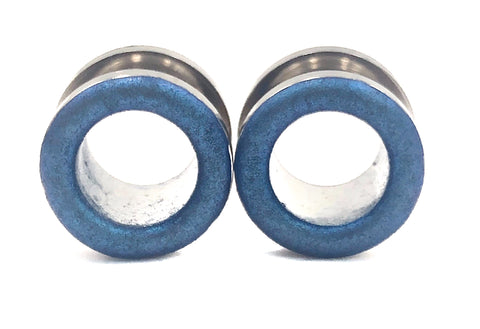 Matte Royal Blue Shimmer Tunnel Plugs