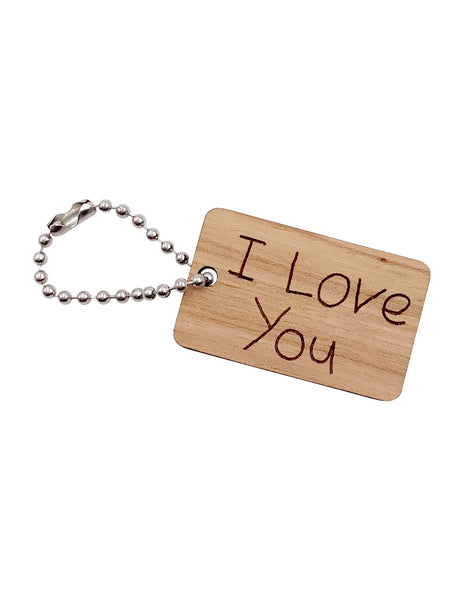 Customized Handwritten Keychain Tag