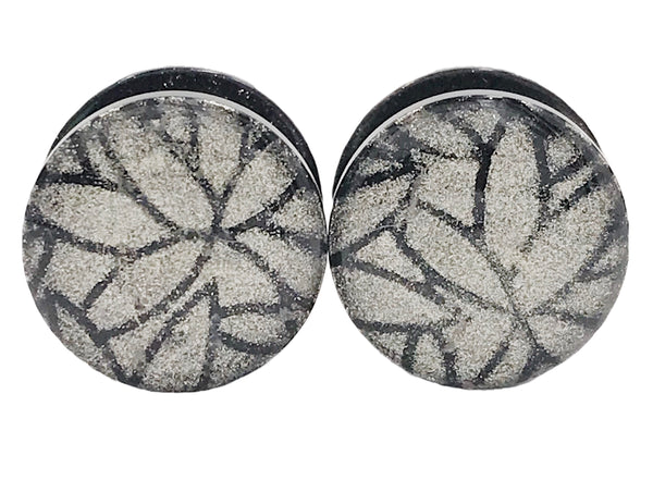 Chrome Shimmer Leaf Design Plugs