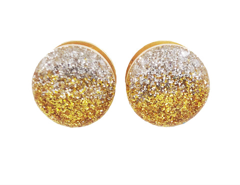 Silver and Gold Ombré Sparkle Plugs - Defiant Jewelry