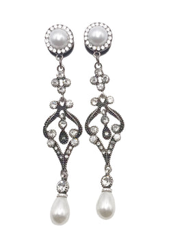 Pearl, Swarovski Crystal and Rhinestone Drop Dangle Plugs - Defiant Jewelry