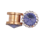 Tanzanite Purple Swarovski Crystal Plugs - Defiant Jewelry