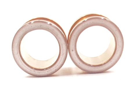 Rose Gold Satin Tunnel Plugs - Defiant Jewelry