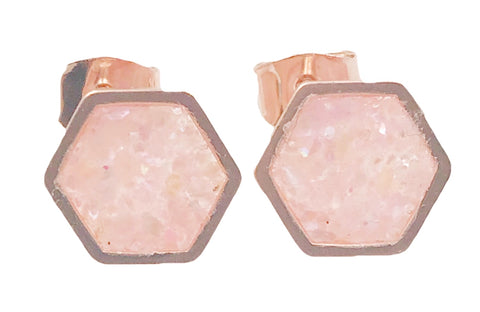 Champagne Shell Geometric Earrings