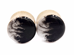 Smokey Wave Wood Plugs - Defiant Jewelry