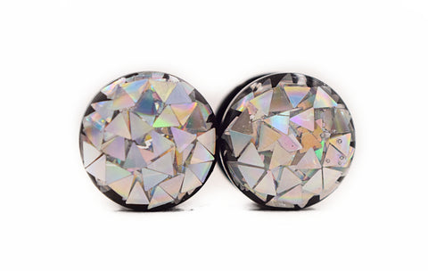 Iridescent Triangle Glitter Plugs - Defiant Jewelry