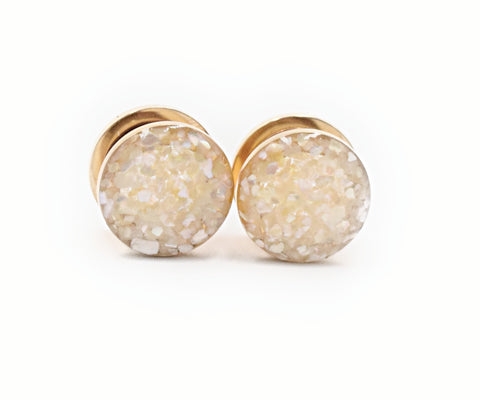 Pearl Crushed Shell Plugs - Defiant Jewelry