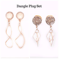 Twist and Diamond Best Selling Dangle Plug Set - Defiant Jewelry