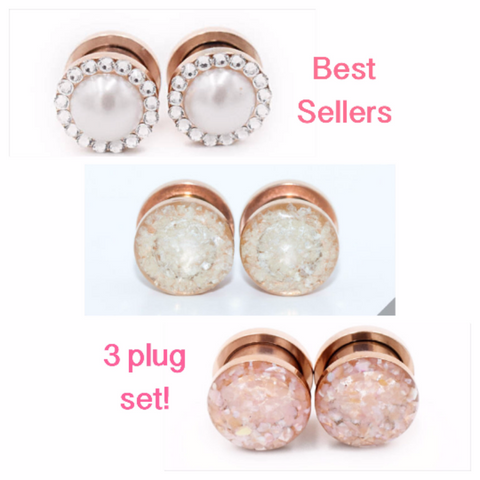 Rose Gold Best Sellers Plugs Set Defiant Jewelry