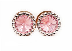 Light Pink Swarovski Crystal Plugs - Defiant Jewelry