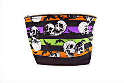 Skull Stripe Make Up Bag - Defiant Jewelry