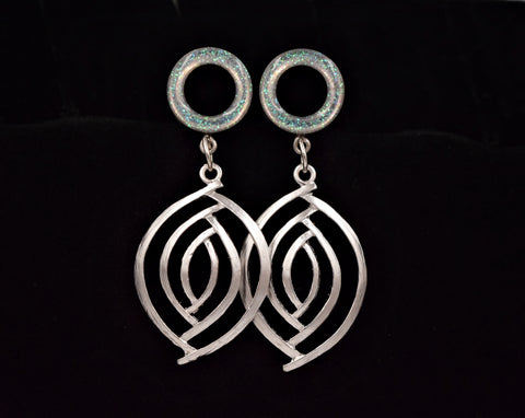 Iridescent Tunnel Swirl Dangle Plugs - Defiant Jewelry
