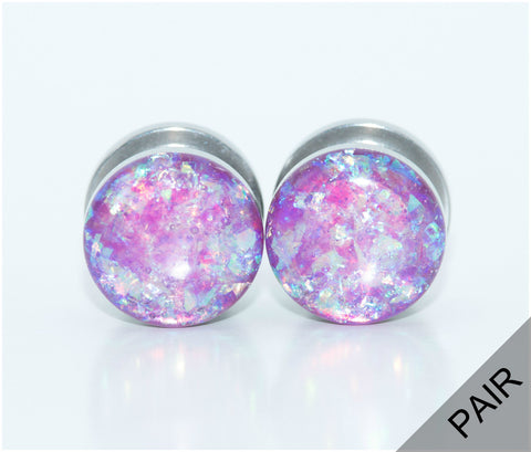 Pink Holographic Plugs - Defiant Jewelry