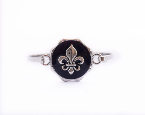 Fleur De Lis Bangle Bracelet - Defiant Jewelry