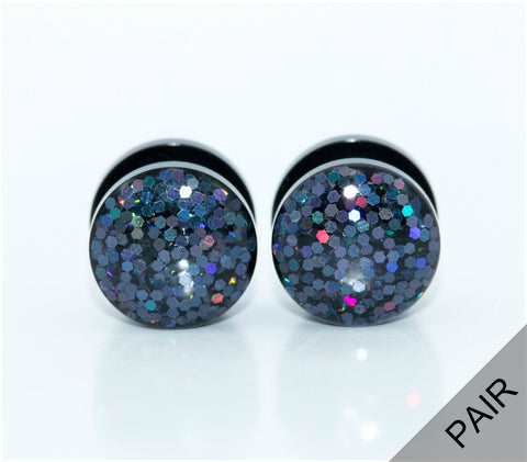 Black Iridescent Acrylic Plugs - Defiant Jewelry