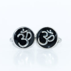 Om Cufflinks - Defiant Jewelry