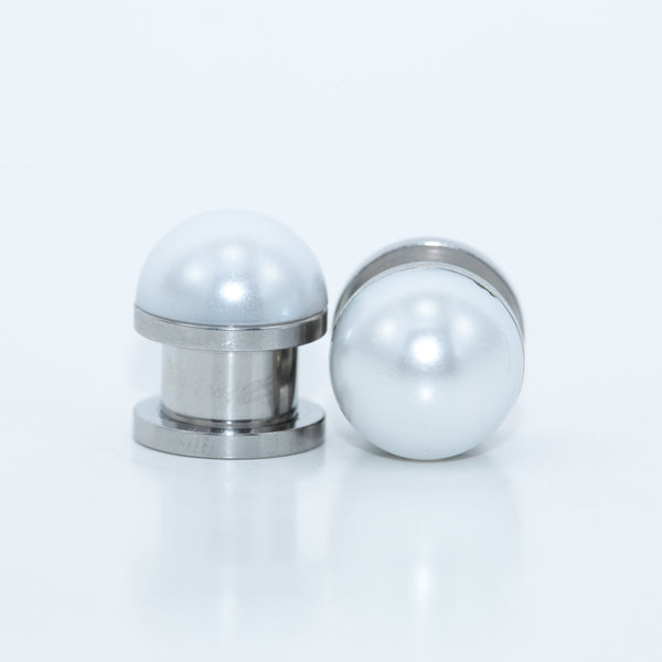 Pearl Plugs in Ivory or White - Defiant Jewelry