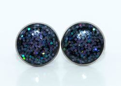 Black Iridescent Cufflinks - Defiant Jewelry