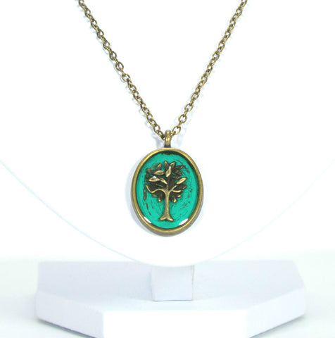 Brass Tree Necklace - Defiant Jewelry