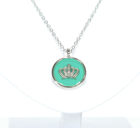 Royal Crown Necklace with Teal - Defiant Jewelry