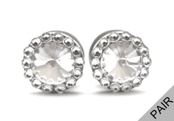 Swarovski Crystal Diamond Plugs - Defiant Jewelry
