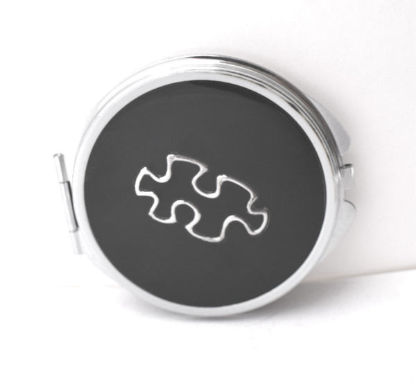 Puzzle Piece Compact Mirror - Defiant Jewelry