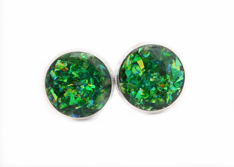 Green Holographic Earrings - Defiant Jewelry