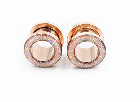 Iridescent Sparkle Tunnel Plugs - Defiant Jewelry