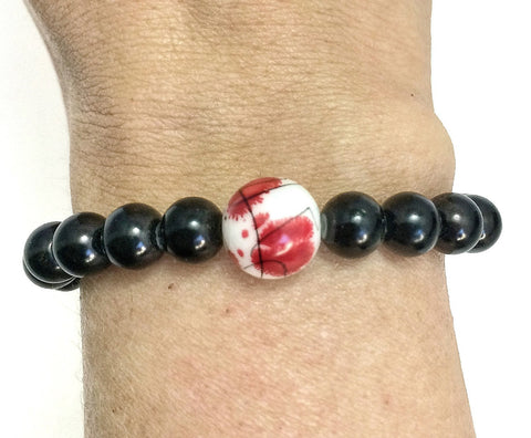 Blood Splatter Bead Bracelet - Defiant Jewelry