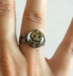 Girl Skull Ring - Defiant Jewelry