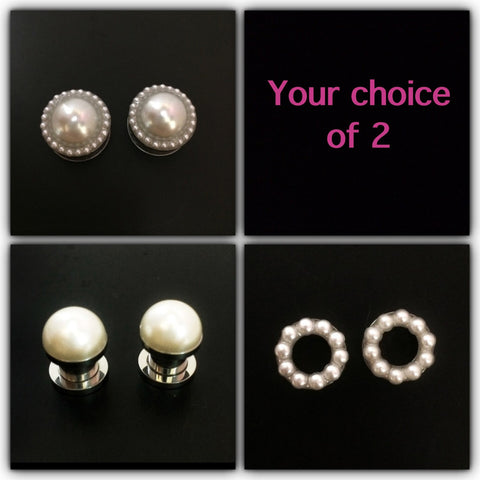 Pearl Plugs Set - Defiant Jewelry