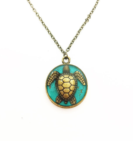 Sea Turtle Necklace - Defiant Jewelry