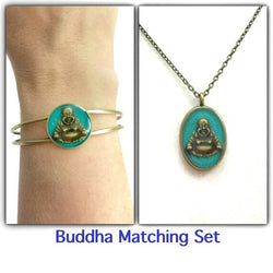 Buddha Necklace and Bracelet Set - Defiant Jewelry