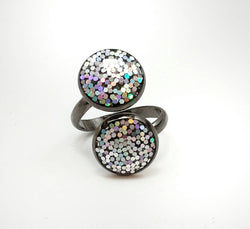 Iridescent Glitter Ring - Defiant Jewelry