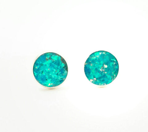 Aqua Holographic Earrings - Defiant Jewelry