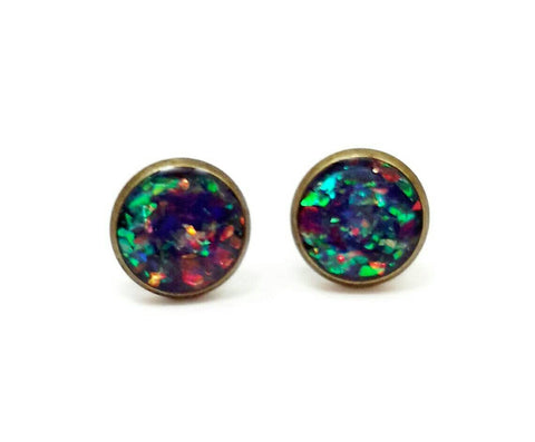 Multi Color Holographic Earrings - Defiant Jewelry